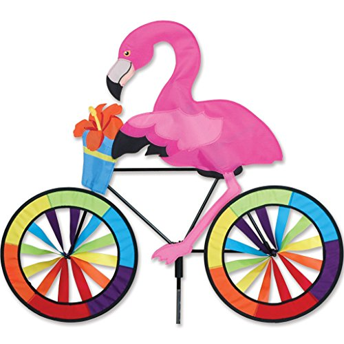 Premier Kites Bike Spinner Flamingo Home Garden Decor