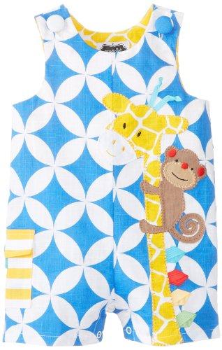 Mud Pie Baby-Boys Newborn Giraffe Shortall, Multi, 9-12 Months front-1054057