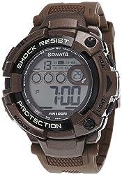 Sonata Ocean Series II Digital Grey Dial Mens Watch - 77010PP01J