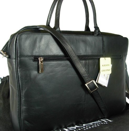 New ladies Visconti black leather briefcase laptop bag 18427