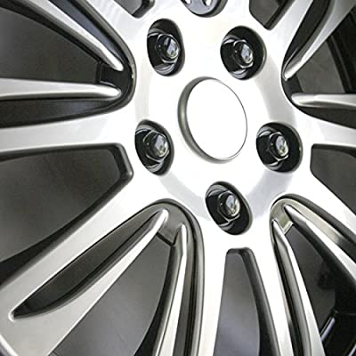 New Design 14 Inch Hubcaps Silver with Black Accents Rim Wheel Covers Hub Cap Full Lug Skin Set 547