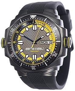 Animal Armadilo Men's Quartz Watch with Grey Dial Analogue Display and Black Silicone Strap WW3WC006 - 002 - O/S