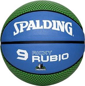 Spalding Ball Nba Player Ricky Rubio 73-874z, nocolor, 7, 3001584011017