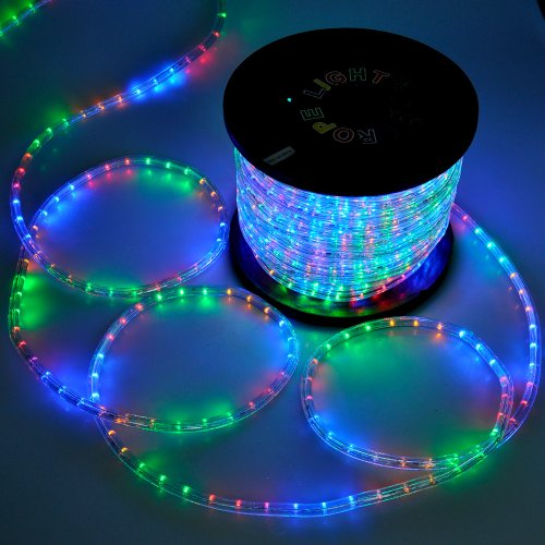 Christmas-Lighting-LED-Rope-Light-150ft-Multi-Color-w-Connector