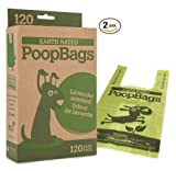 (2 Pack) Earth Rated Poop Bags with Handle Eco-Friendly Bags, 2/120ct (Total 240 Bags)