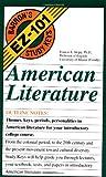 American Literature (Barron's Ez-101 Study Keys) (0812046943) by Skipp, Francis E.