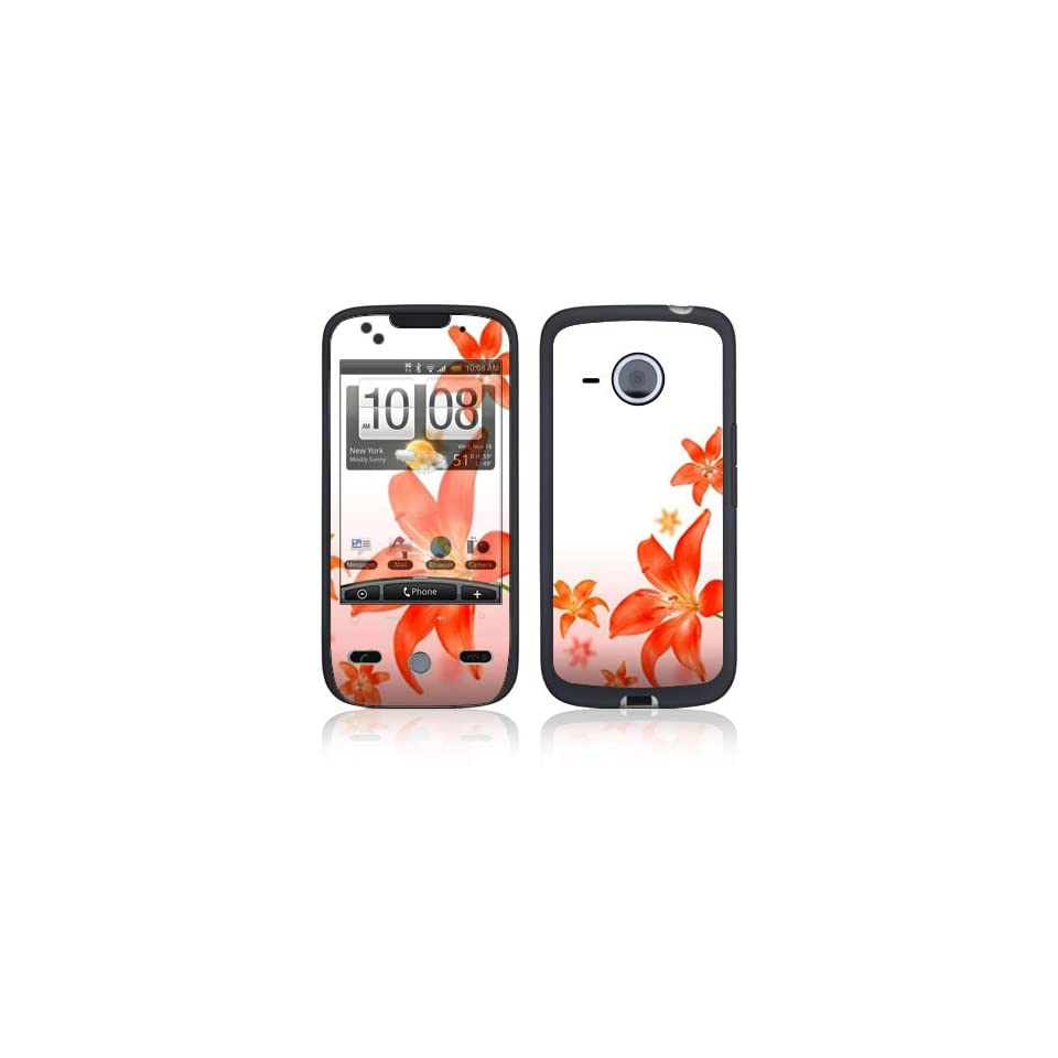 Flying Flowers Protective Skin Cover Decal Sticker for HTC Droid Eris Cell Phone