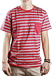 #OOTD Men's Cotton T-Shirt (Red, 38)