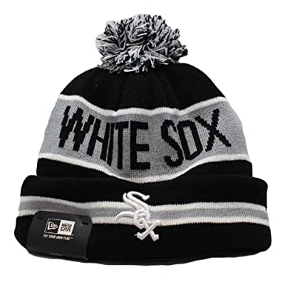 New Era Chicago White Sox MLB Team Logo Knit Cap with Cuff OSFA-EMBD