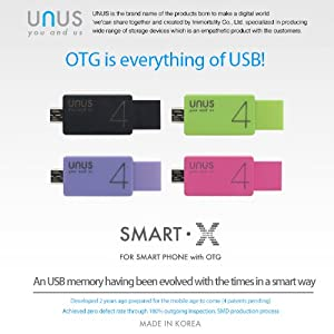 UNUS SMART-X BLACK 16GB Android OTG Memory Stick [Galaxy S2/S3/S4/Note/Note2/Smartphone+PC Compatible Device]