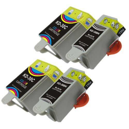 4-kodak-30-xl-compatibili-di-alta-cartucce-dinchiostro-nero-capacita-e-colore-per-kodak-esp-c110-esp