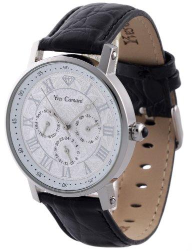 Yves Camani - YC1001-B - Montre Homme - Quartz - Analogique - Bracelet cuir Noir