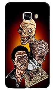 Omnam Three Zombies Printed Designer Back Cover Case For Samsung Galaxy C7