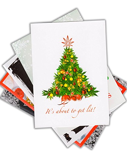 set-of-5-humorous-drugs-christmas-cards-by-locker-room-talk-cards-w-envelopes-5x7-christmas