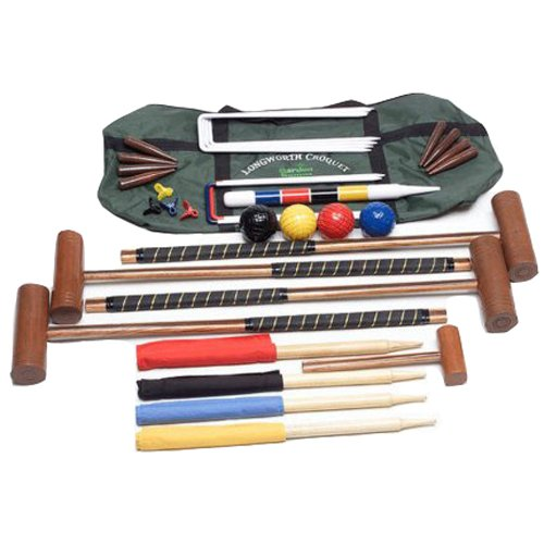Longworth Full Size Croquet Set with Canvas Carry Case