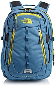 The North Face Surge II Backpack - Diesel Blue/Acid Yellow, One Size