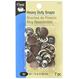 Dritz 5-32 Heavy Duty Snaps, Copper, Size 24 (5/8-Inch) 7-Sets (Color: Copper, Tamaño: Size 24 (5/8-Inch))