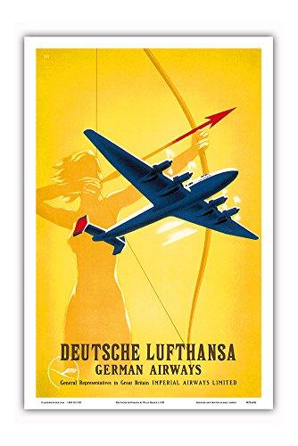 deutsche-lufthansa-german-airways-female-archer-vintage-airline-travel-poster-by-willy-hanke-c1939-m