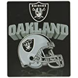 "Oakland Raiders Lightweight 50"" x 60"" Fleece Blanket - Reflecting Helmet"