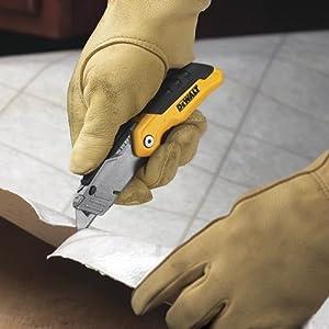DEWALT DWHT10035L Folding Retractable Utility Knife (Color: Yellow, Tamaño: 1)