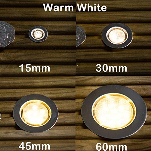 Ultimo Designs LED Round Garden Deck Kitchen Plinth Lights IP - Kitchen plinth lights white