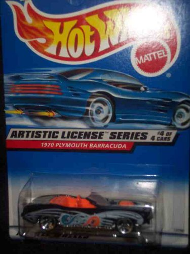 Artistic License #4 1970 Plymouth Barracuda 3-Spoke Blue/Orange Tampo #732 - 1