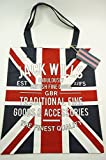 Jack Wills NEW Brightwell Cotton Book Bag Union Jack