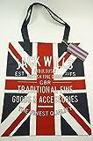 Jack Wills NEW Brightwell Cotton Book Bag Union Jack