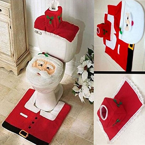 LLTraderR Merry Christmas Santa Toilet Seat Cover And Rug