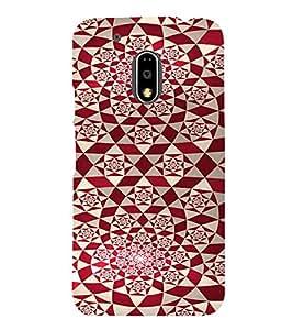 PrintVisa Red Diamond Pattern 3D Hard Polycarbonate Designer Back Case Cover for Motorola Moto G4 PLAY