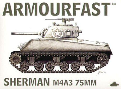 Armourfast 1/72 M4A3 Sherman 75mm Tank Model Kit - Contains 2 Tanks