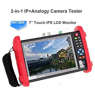 "Seesii IPC9800 7"" Touch Screen CCTV Analogy Video ONVIF IP Camera Wifi Tester POE 12V"