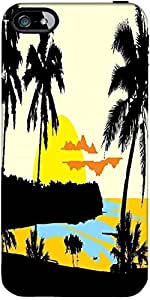 Snoogg tropical landscape Hard Back Case Cover Shield ForApple Iphone 5 / 5s