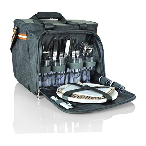 Insulated Picnic Basket- Waterproof & DurableLunch Tote Cooler