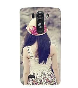Printvisa A Girl Admiring Nature Back Case Cover for LG G3 Beat::LG G3 Vigor::LG G3s (Dual)