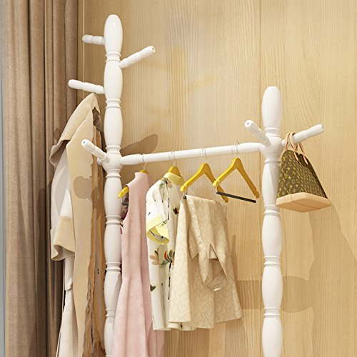 Floor home hanger bedroom solid wood racks minimalist modern living room clothing racks 2