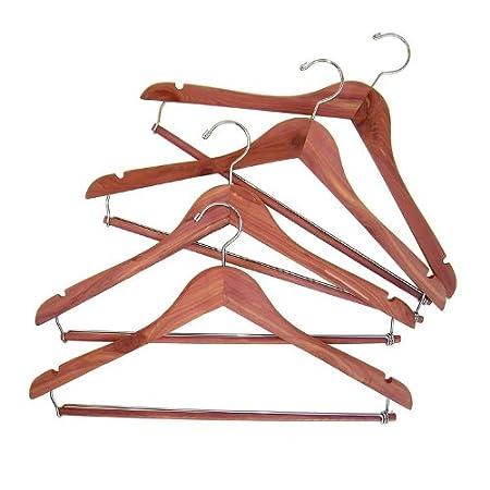 Household Essentials CedarFresh Cedar Hanger with Locking Trouser Bar, Set of 4