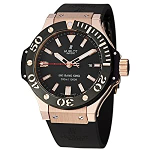 HUBLOT BIG BANG 322.PM.100.RX GENTS RED CALFSKIN ROSE GOLD CASE AUTOMATIC WATCH