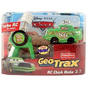 Disney Pixar Cars Geotrax Turbo Vehicle [RC Chick Hicks]