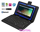 Tagital® T7X 7 Quad Core Android 4.4 KitKat Tablet PC, Bluetooth, Dual Camera, Play Store Pre-installed, 2015 Newest Model Bundled with Keyboard Blue