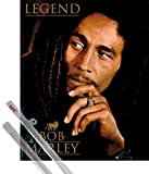 Poster + Hanger: Bob Marley Mini Poster (20x16 inches) Legend and 1 set of 1art1® Poster Hangers