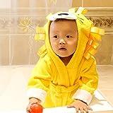 hibote albornoz del beb� toalla de ba�o para beb� mantas de algod�n recubiertos 0-3YEARS camis�n amarillo (le�n)