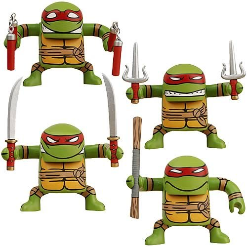 Picture of NECA Teenage Mutant Ninja Turtles BATSU Figures Set of 4 (B002YZHG8I) (TNMT Action Figures)