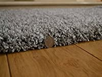 Soft Touch Shaggy Silver Thick Luxurious Soft 5cm Dense Pile Rug. Available in 7 Sizes by Rugs Supermarket