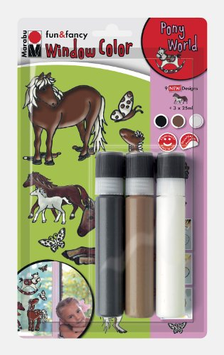 Marabu 040600114 - Window Color 3x25ml Pony World