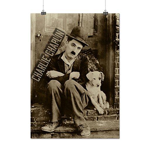Charlie Chaplin Cane Film Opaco/Lucida Poster A3 (42cm x 30cm) | Wellcoda