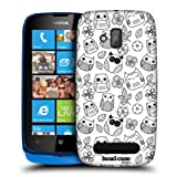 Head Case Flowers And Leaves Doodle Owl Hard Back Case Cover For Nokia Lumia 610