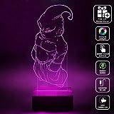 CMLART Handmade Dragon ball Buu Boss 3d Lamp RGB Full Color 44 Key Remote control LED Night Light Best Gift Desk Table Lighting Home Decoration Toys