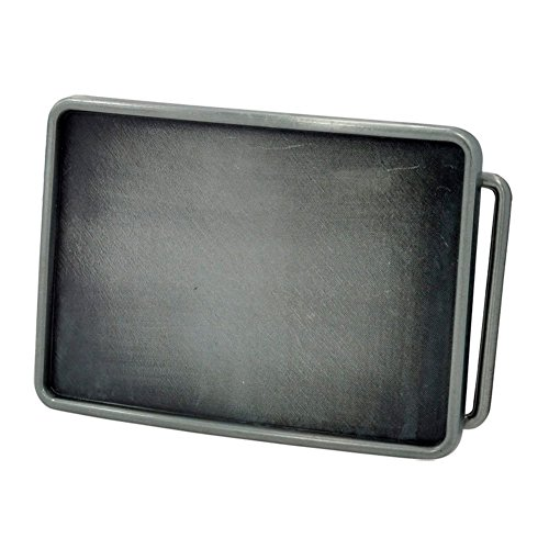 Buckle Rage Rectangle Blank Custom Belt Buckle Large Silver (Plain Belt Buckle compare prices)