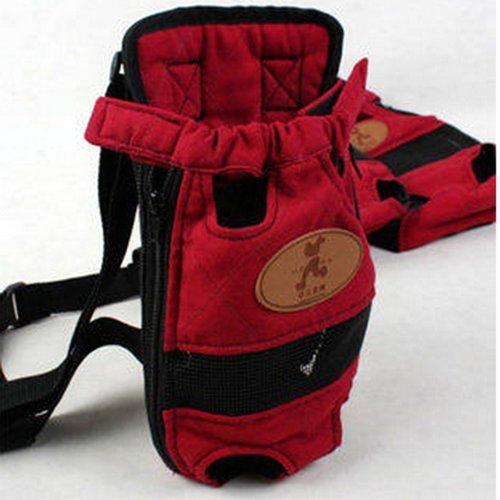 Artikelbild: Pet Hunderucksack Brusttasche Teddy aus tragbare Schultertasche Katze Tüte Tasche Hund Reise chinesische Yuan verpackt ( farbe : Rot , größe : M )